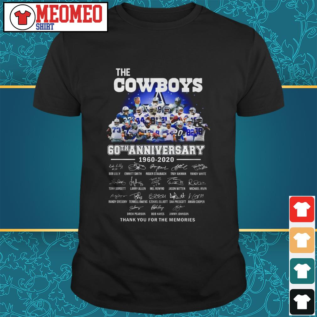 The Cowboys 60th anniversary 1960-2020 signatures thank you for the memories shirt