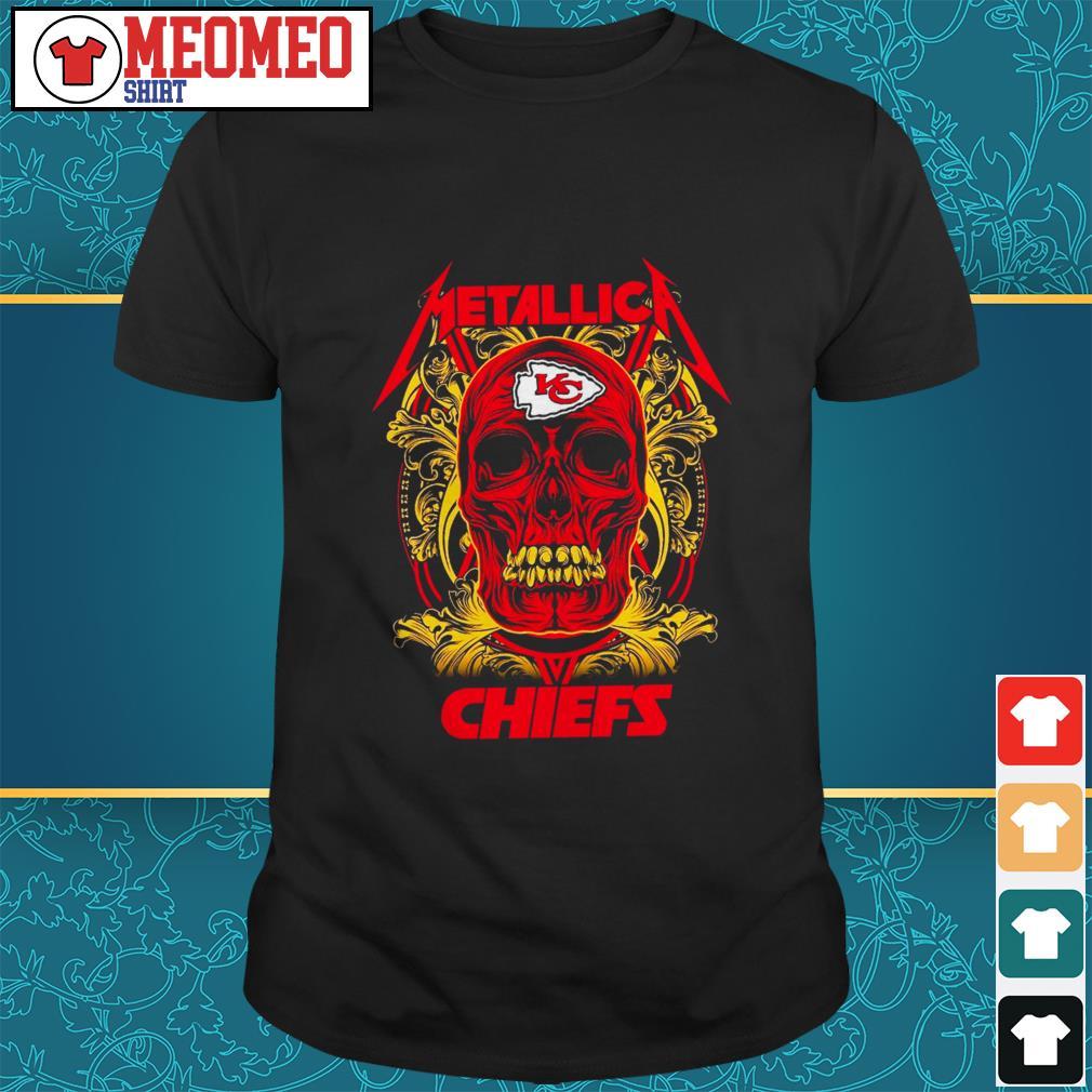 Skull Metallica Kansas City Chiefs shirt