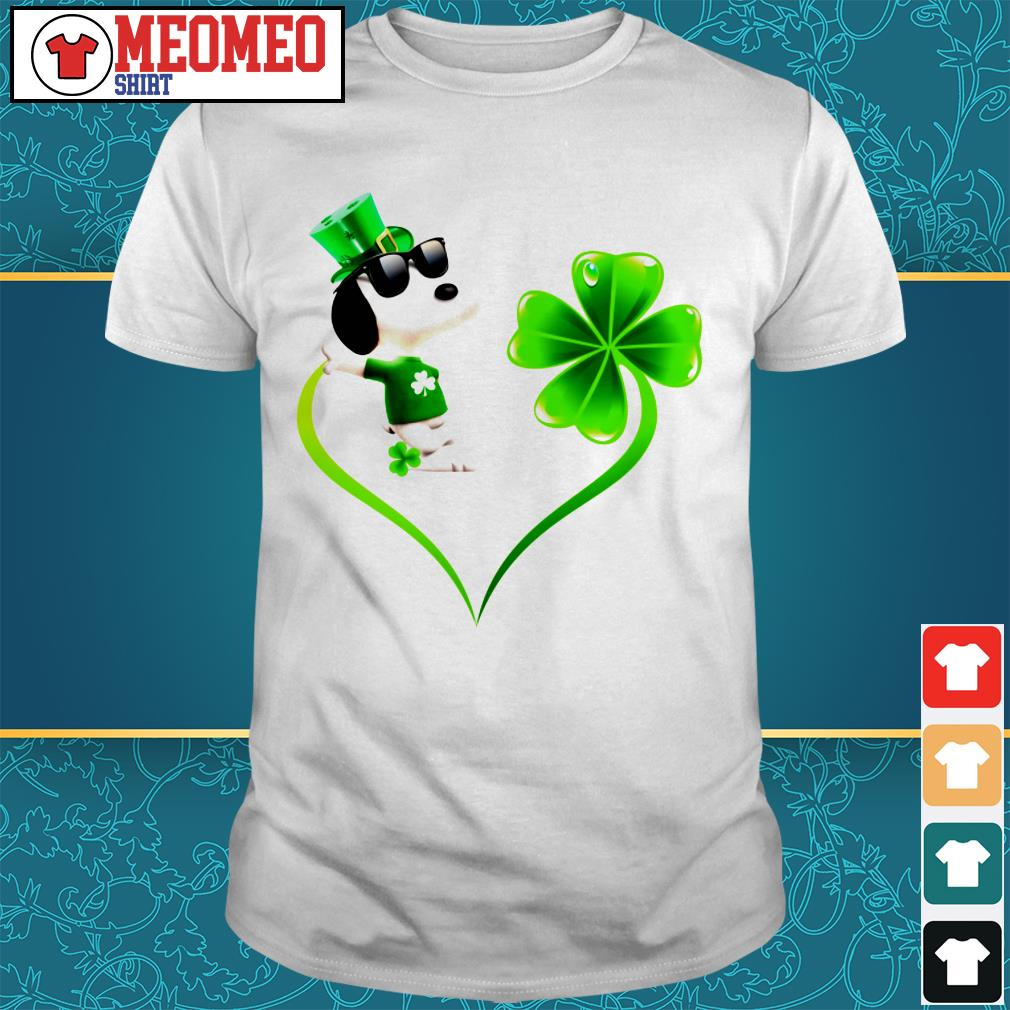 Snoopy Irish and lucky heart shirt