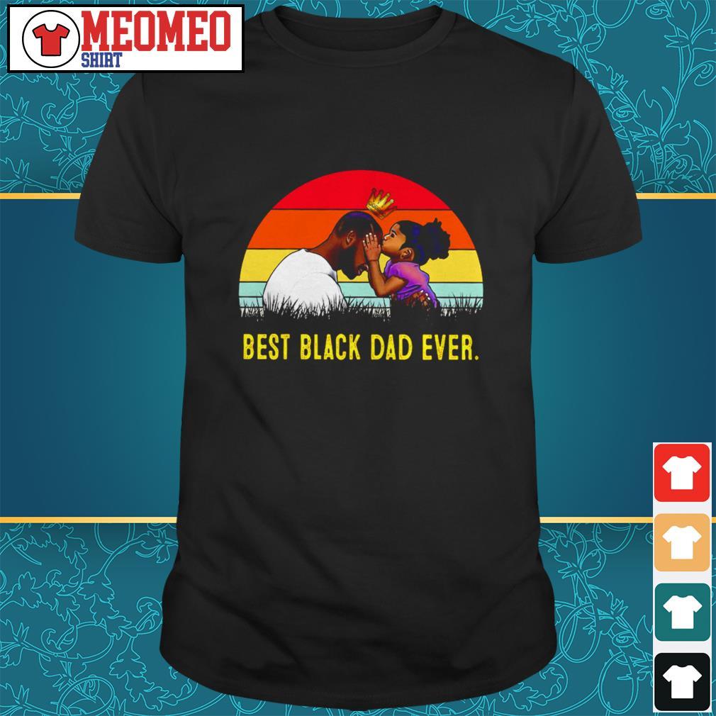 Vintage best black dad ever shirt