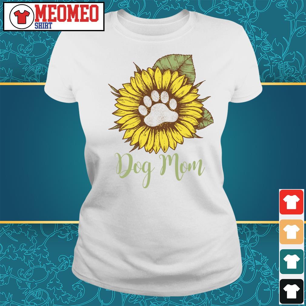 Sunflower paw dog mom s Ladies-tee