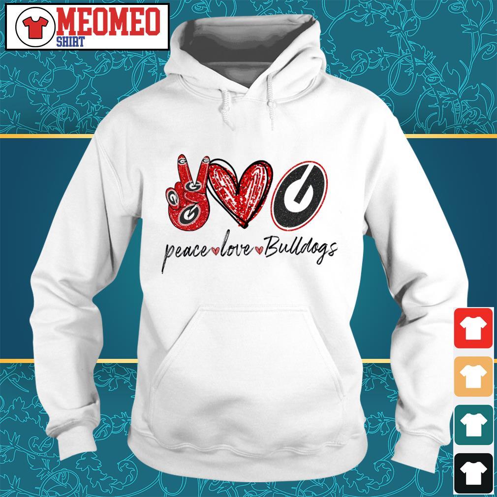 Peace love bulldogs Hoodie