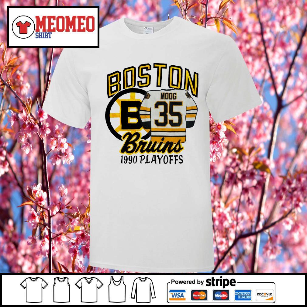 Boston moog bruins 1990 playoffs shirt