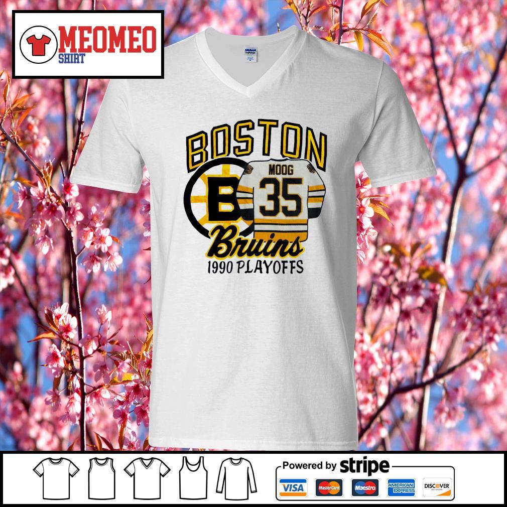 Boston moog bruins 1990 playoffs s V-neck-T-shirt