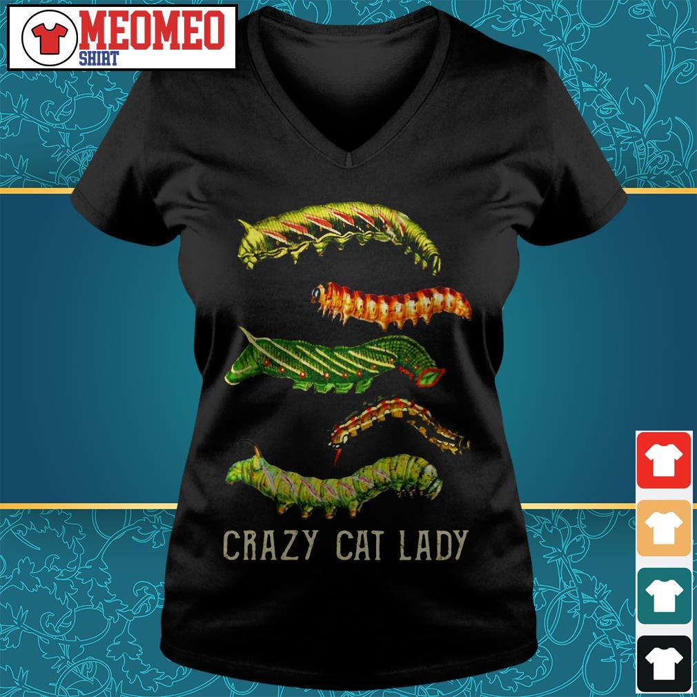 The bugs crazy cat lady V-neck t-shirt