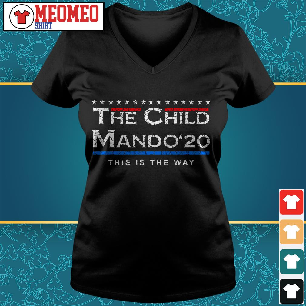 The Child Mando 20 this is the way V-neck t-shirt