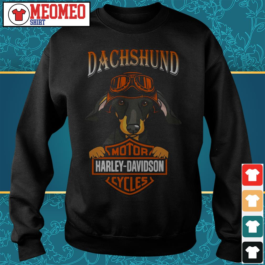 Dachshund motor harley davidson cycles Sweater
