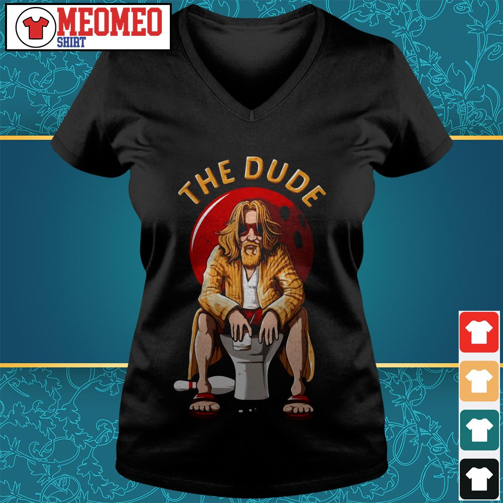 The Dude bowling V-neck t-shirt
