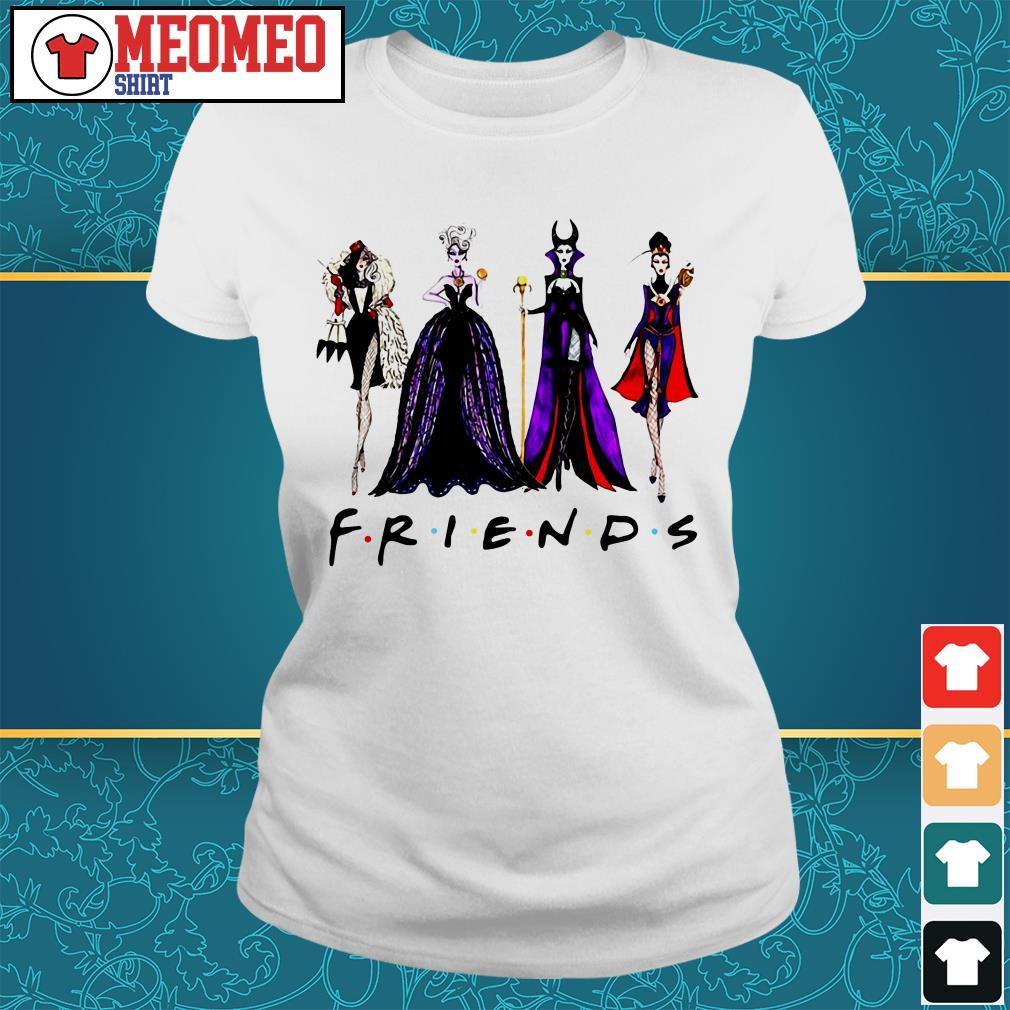 Friends Disney Maleficent Evil Queen Ursula Cruella de Vil Ladies tee