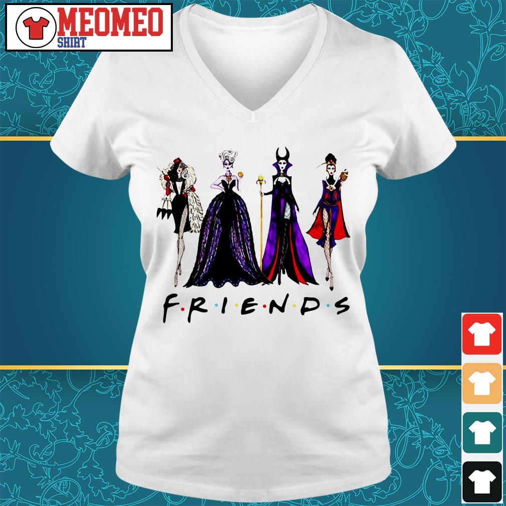 Friends Disney Maleficent Evil Queen Ursula Cruella de Vil V-neck t-shirt