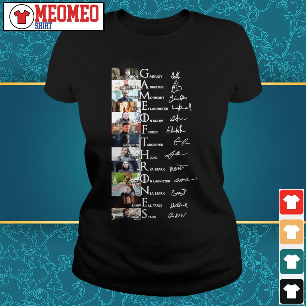 Game of Thrones signatures all characters ladies tee