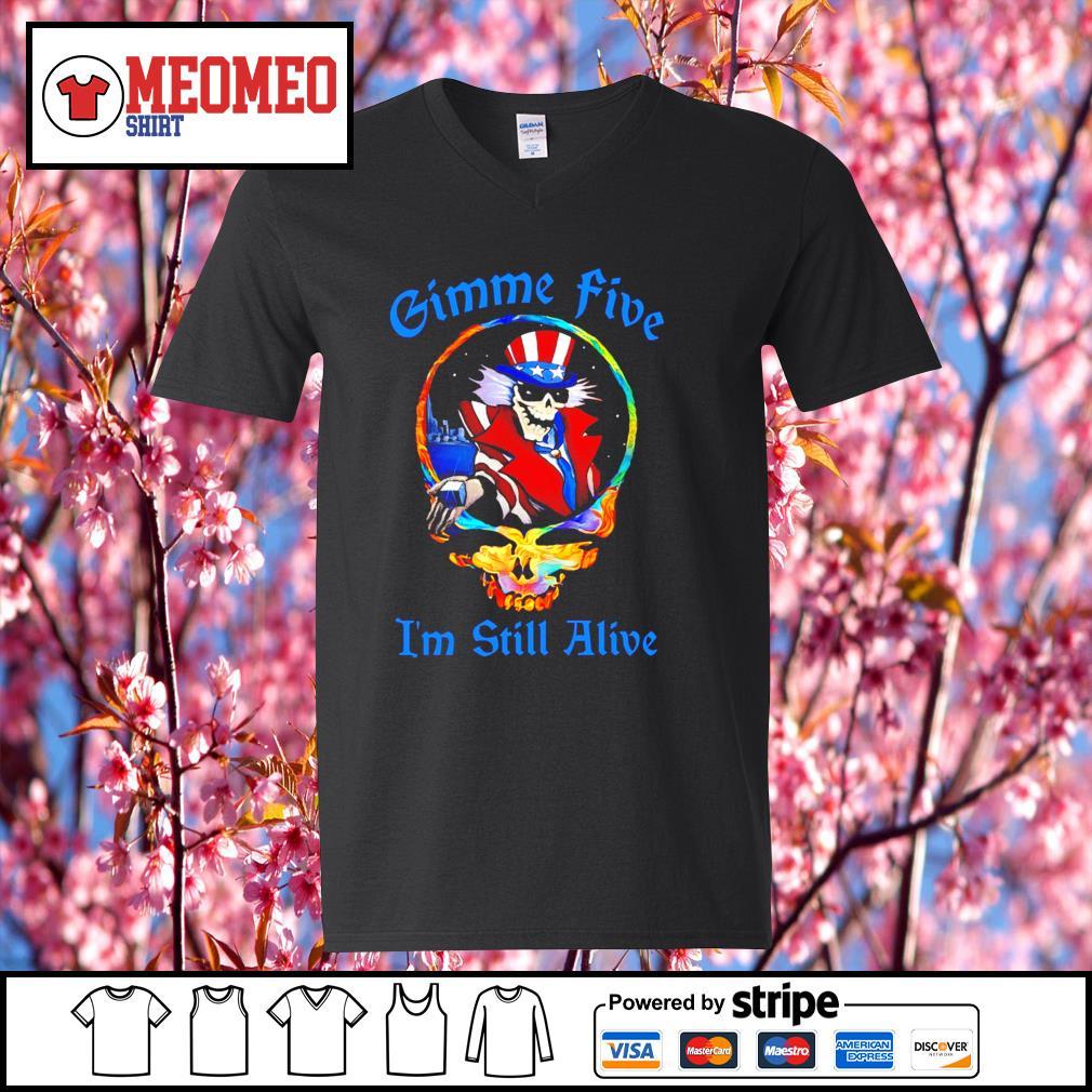 Grateful Dead Gimme five I'm still alive s V-neck-T-shirt