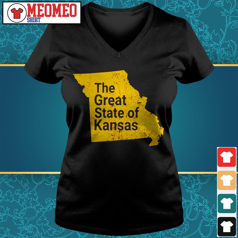 The great state of Kansas V-neck t-shirt