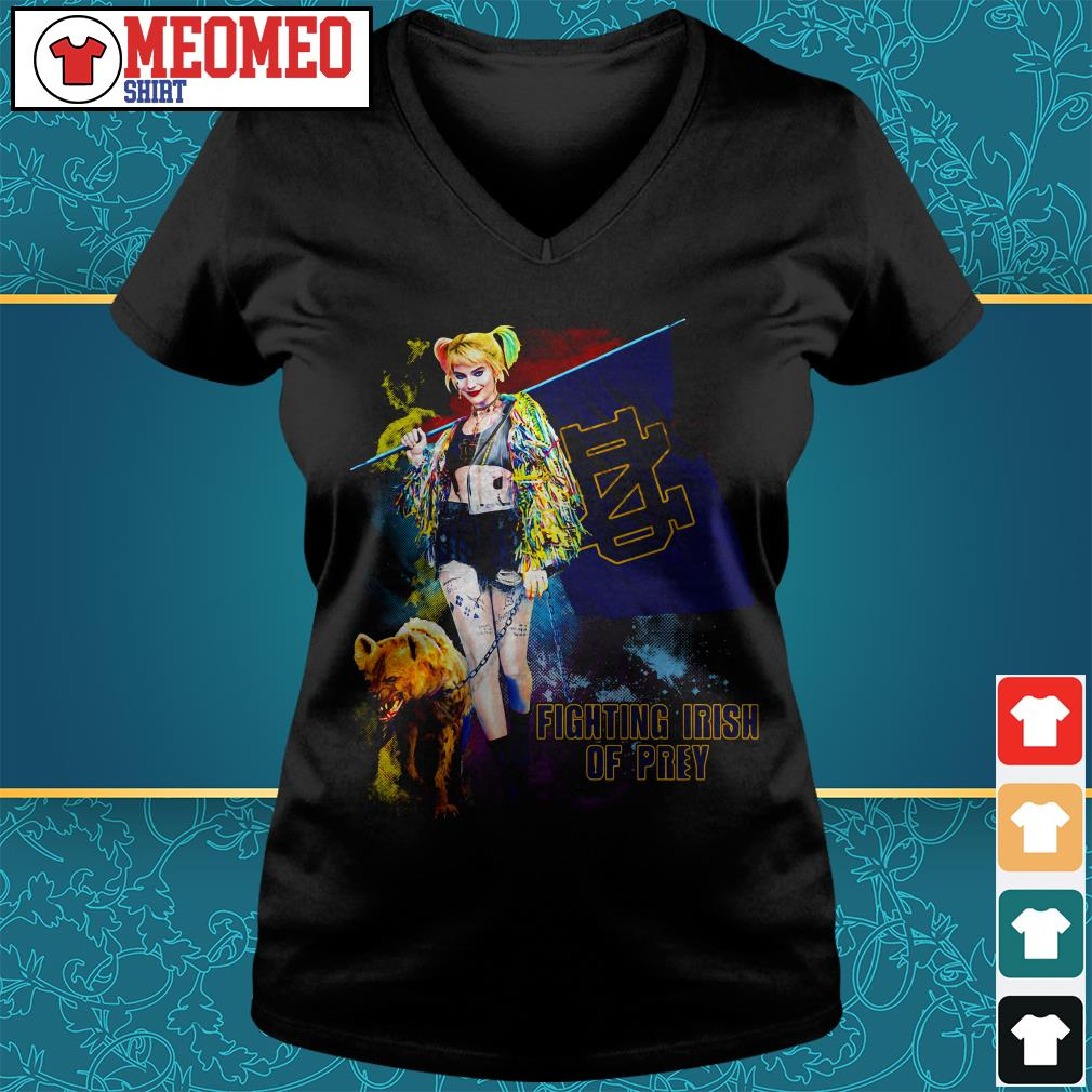 Harley Quinn fighting Irish of prey V-neck t-shirt