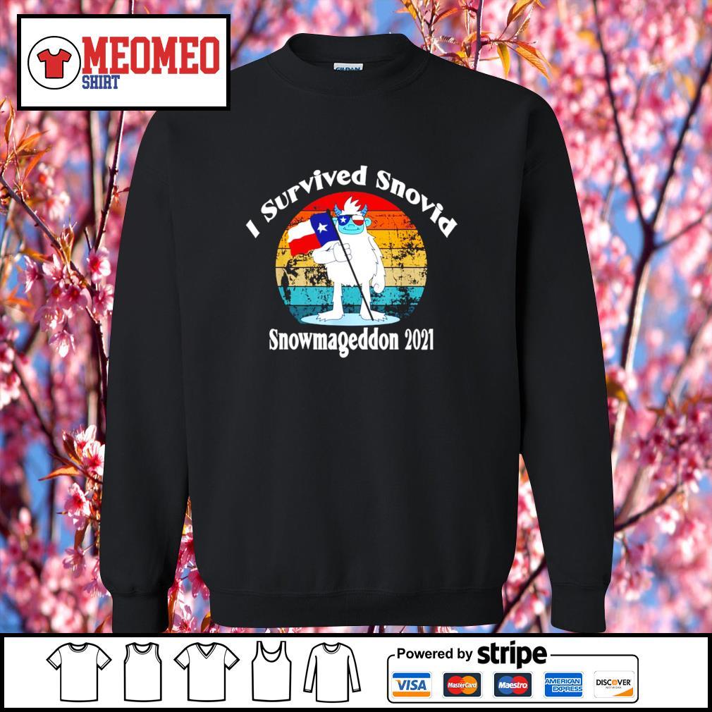 I survived snovid snowmageddon 2021 vintage s Sweater