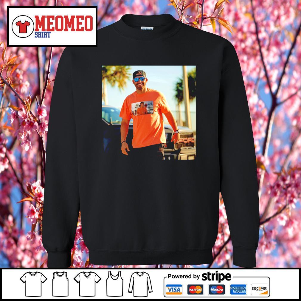 JD Martinez wear Tom Brady Drunk s Sweater