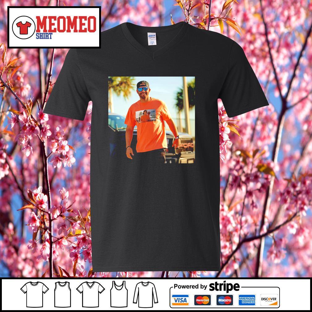 JD Martinez wear Tom Brady Drunk s V-neck-T-shirt