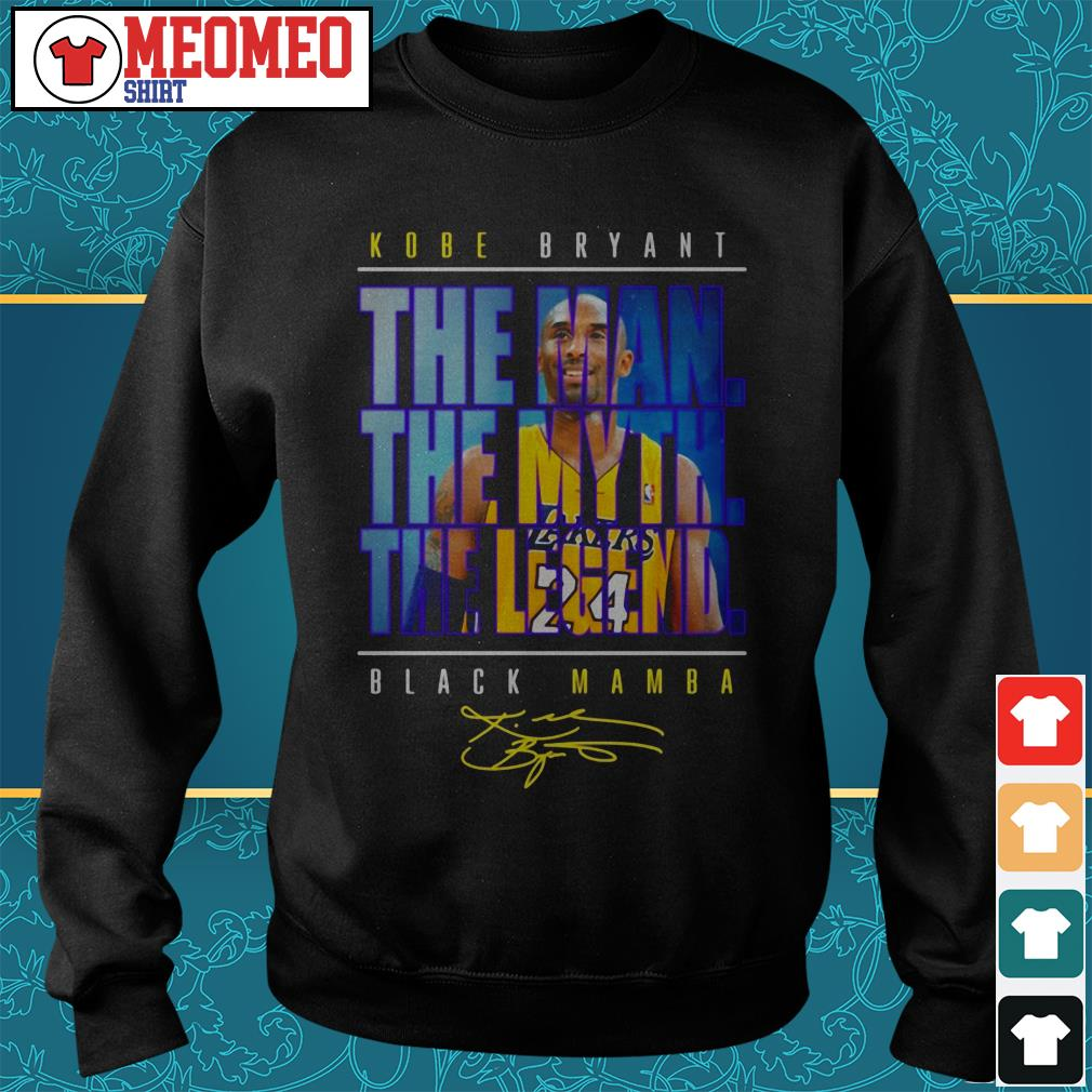 Kobe Bryant the man the myth the legend black Mamba signature Sweater