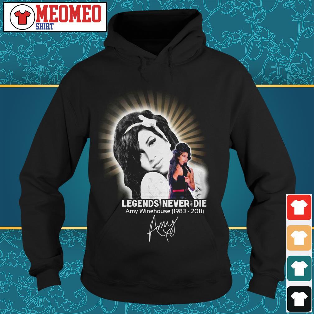 Legends Never Die Amy Winehouse 1983-2011 signature Hoodie