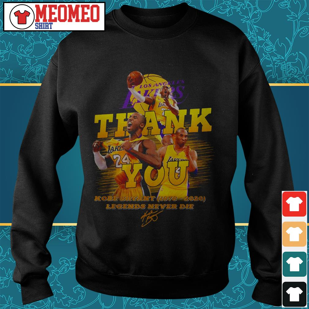 Los angeles Lakers thank you Kobe Bryant (1978-2020) legends never die Sweater