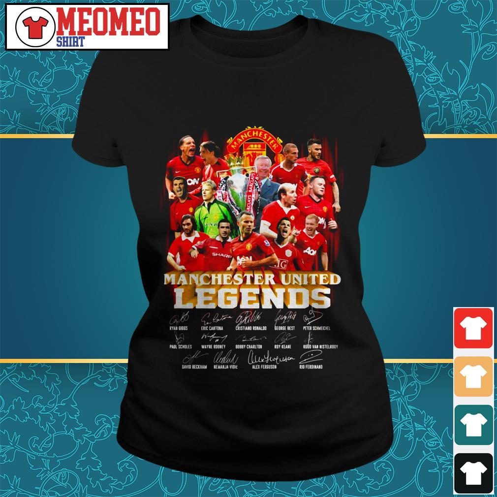 Manchester united legends signature Ladies tee