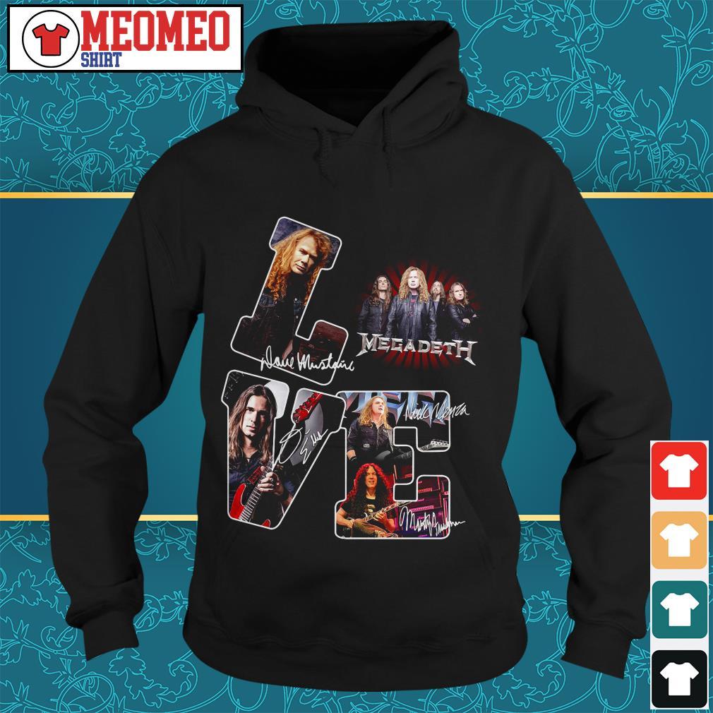 Megadeth band signatures love Hoodie