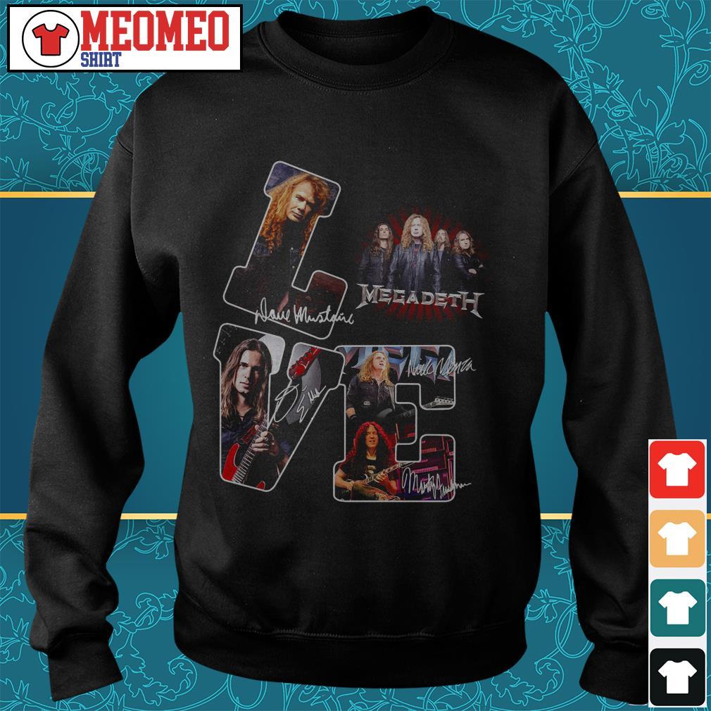 Megadeth band signatures love Sweater
