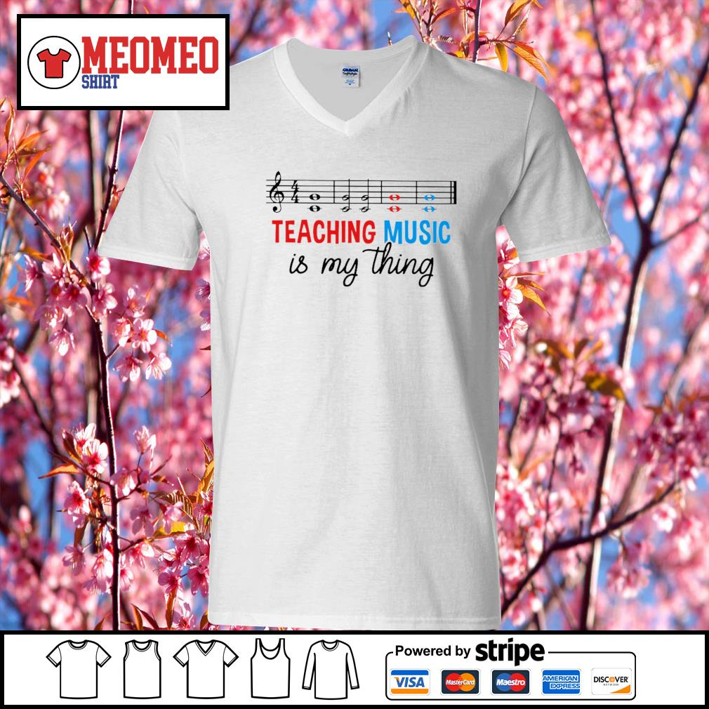 Men's Teaching music is my thing s V-neck-T-shirt