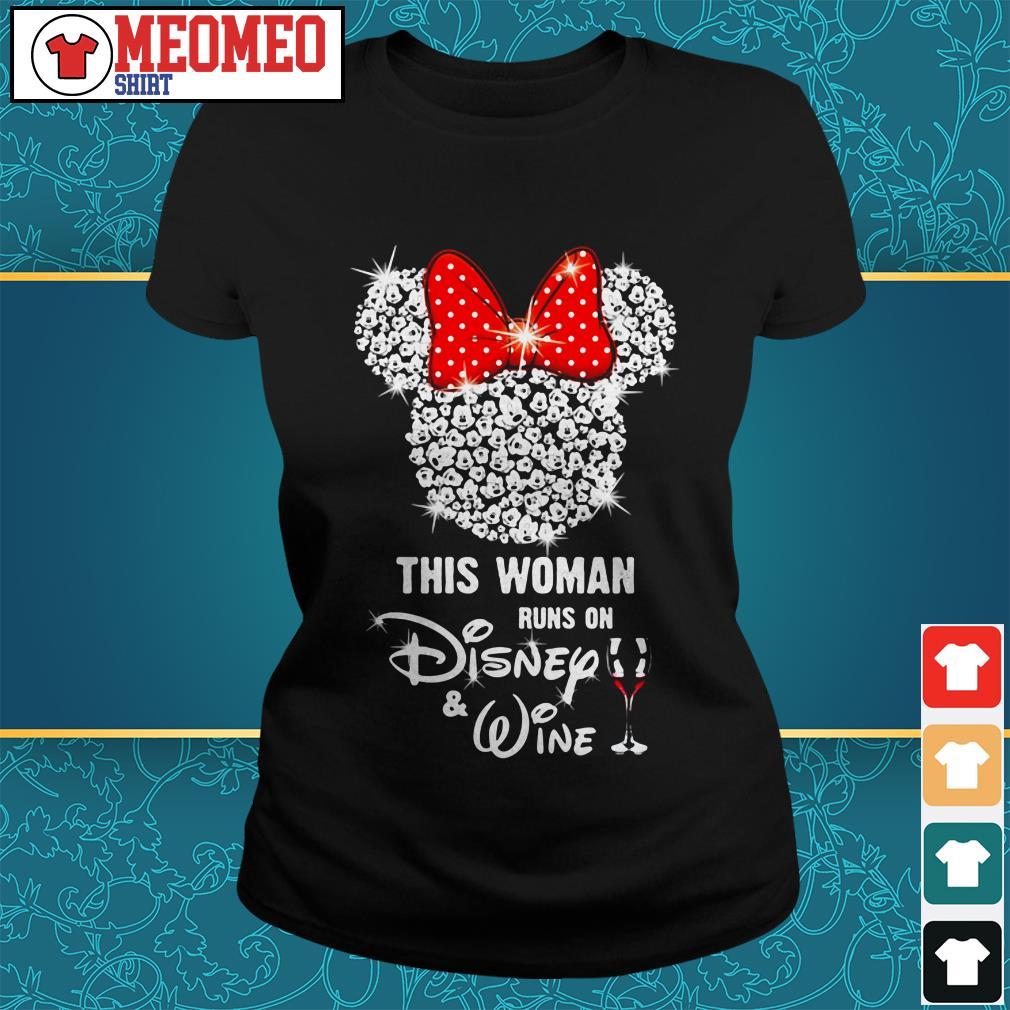 Mickey Mouse this woman runs on Disney wine Ladies tee