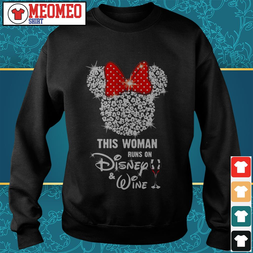 Mickey Mouse this woman runs on Disney wine Sweater