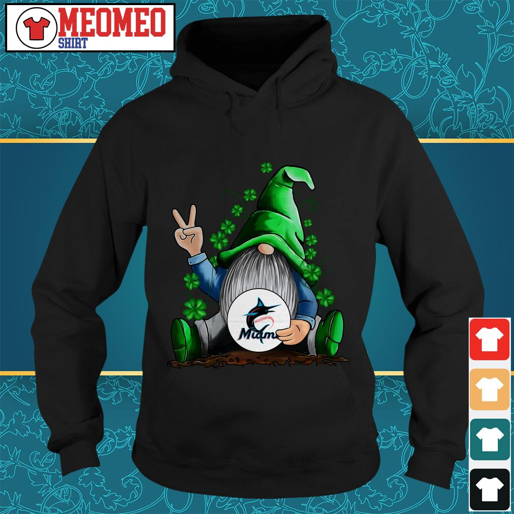 MLB Gnomes Lucky Hug Miami Marlins Baseball Hoodie