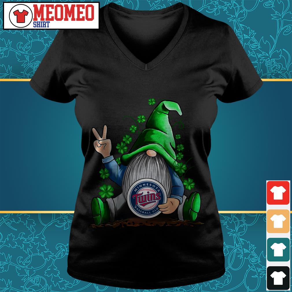 MLB Gnomes Lucky Hug Minnesota Twins Baseball V-neck t-shirt