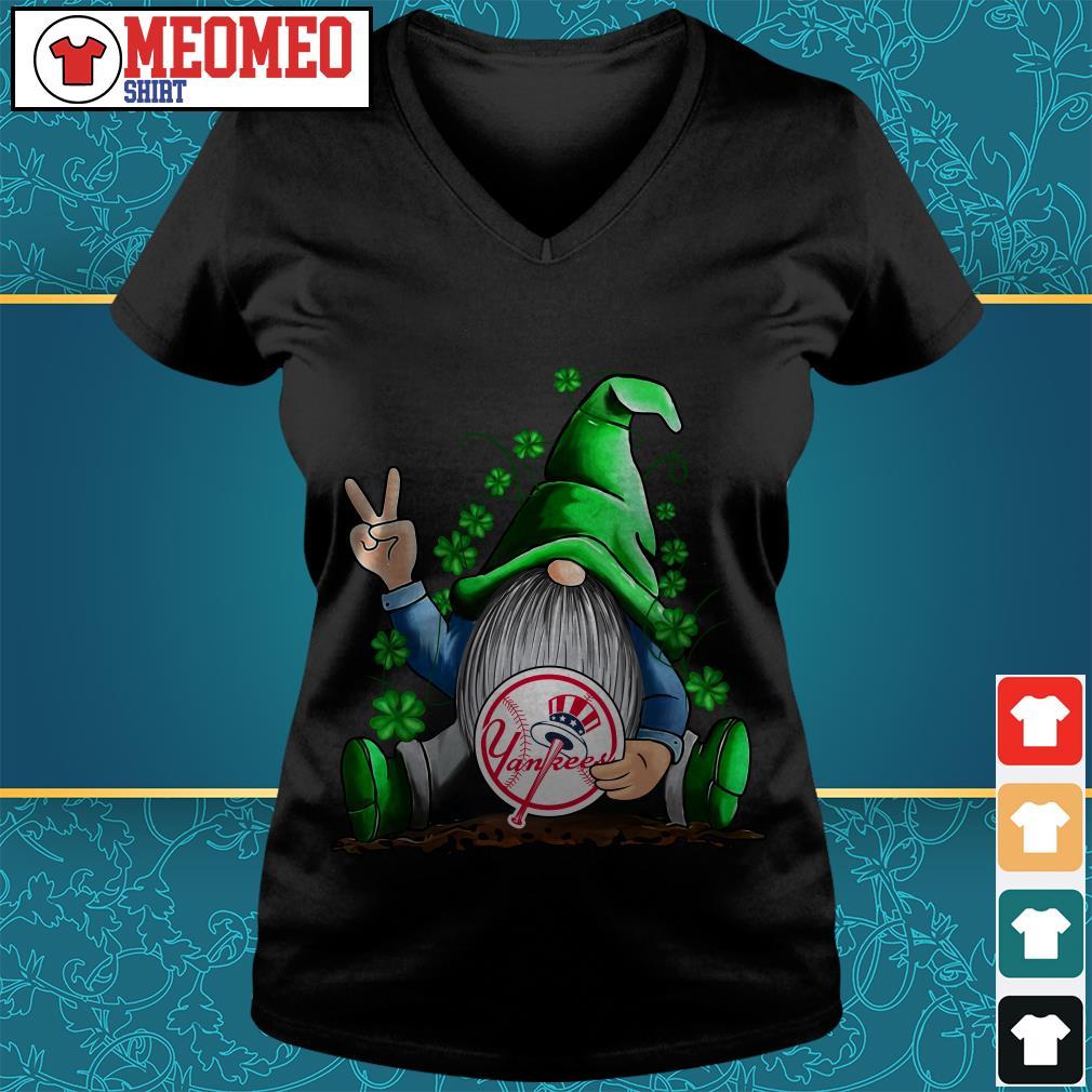 MLB Gnomes Lucky Hug New York Yankees Baseball V-neck t-shirt