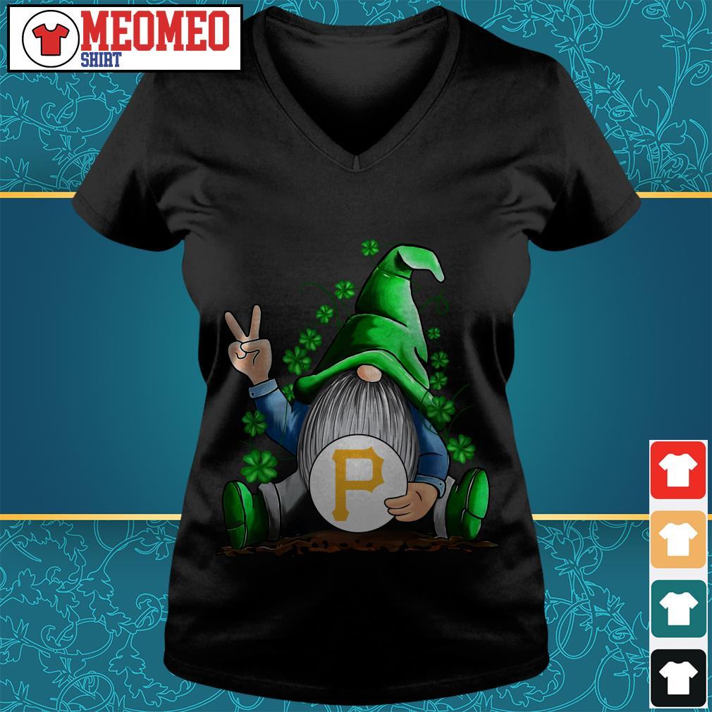 MLB Gnomes Lucky Hug Pittsburgh Pirates Baseball V-neck t-shirt
