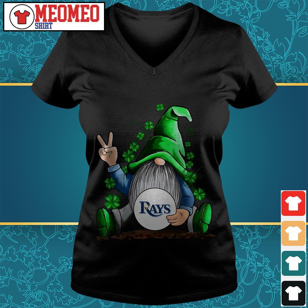 MLB Gnomes Lucky Hug Tampa Bay Rays Baseball V-neck t-shirt