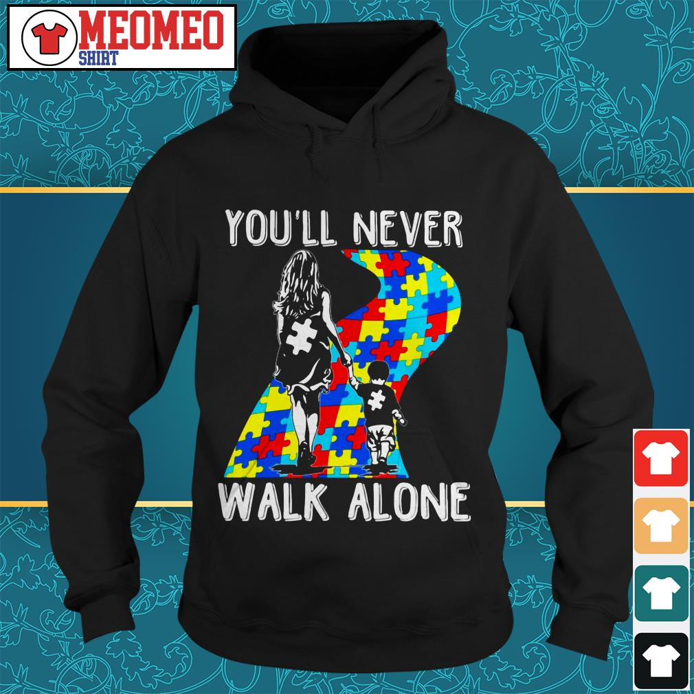 Mom and son you'll never walk alone Hoodie