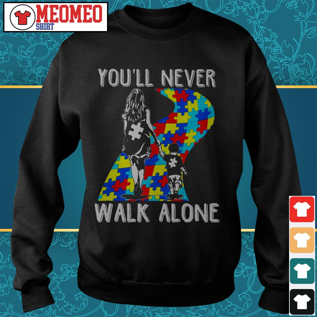 Mom and son you'll never walk alone Sweater