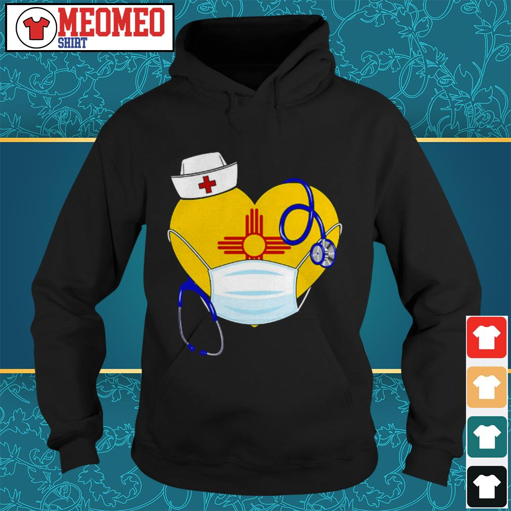 New Mexico heart nurse mask Hoodie