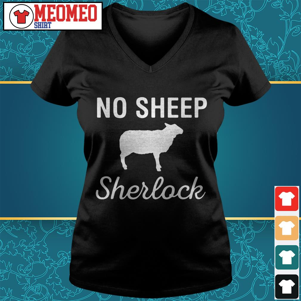 Not sheep Sherlock V-neck t-shirt