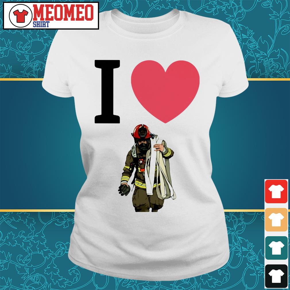 Offical I love fireman Ladies tee