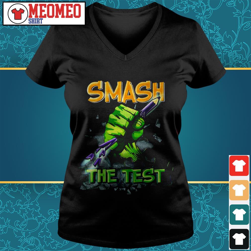 Official Smash the test V-neck t-shirt