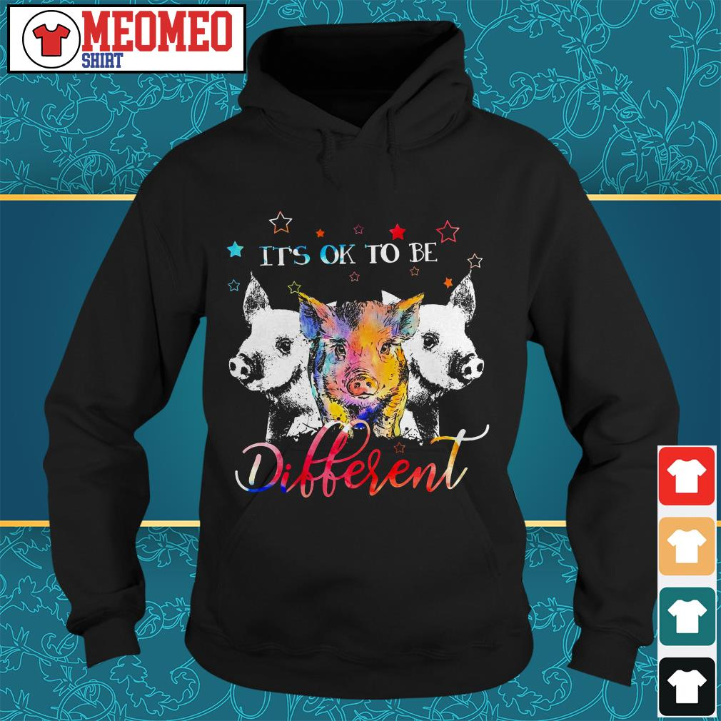 Official three Pig it's ok to be different Hoodie