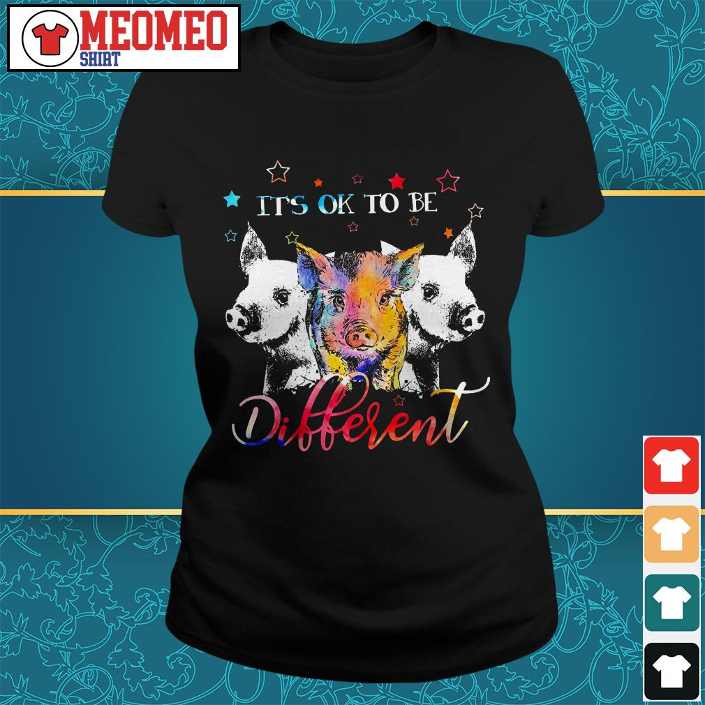 Official three Pig it's ok to be different Ladies tee