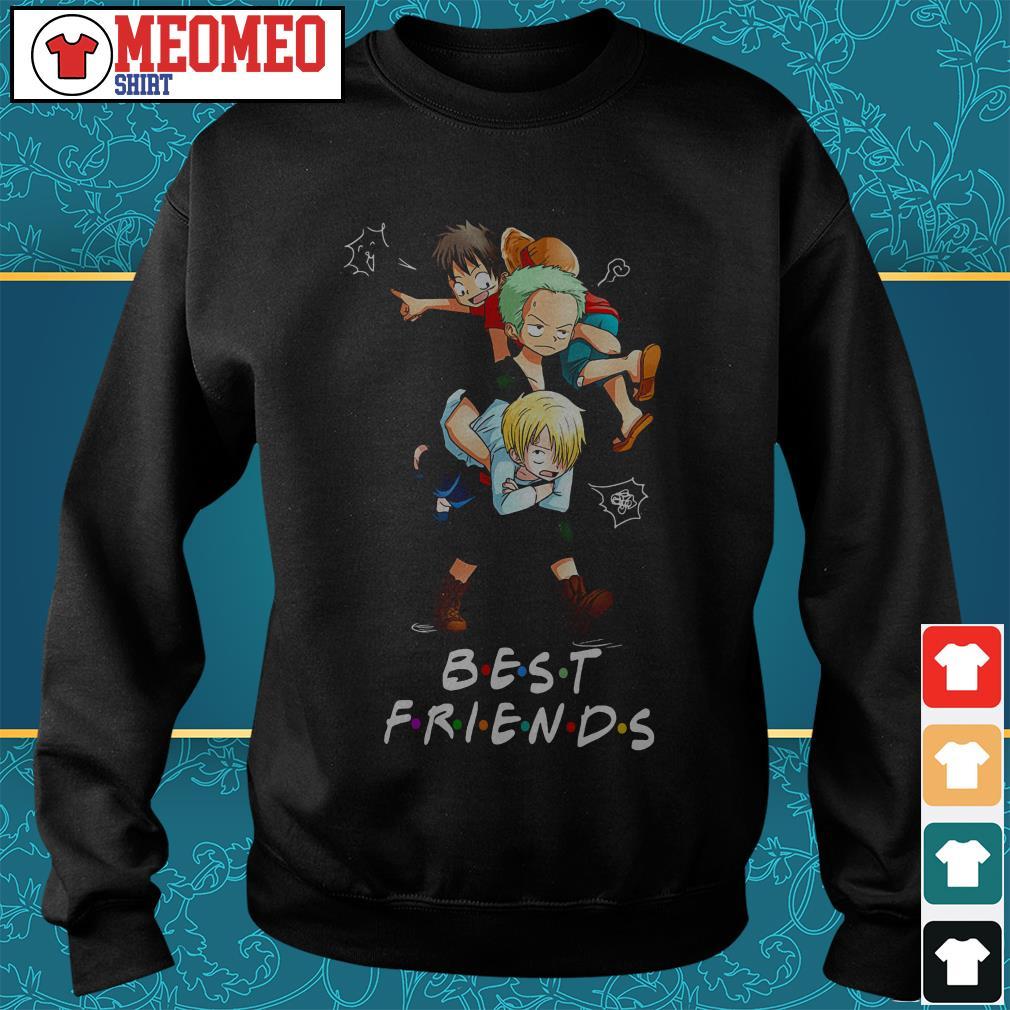 One piece anime best friends Sweater
