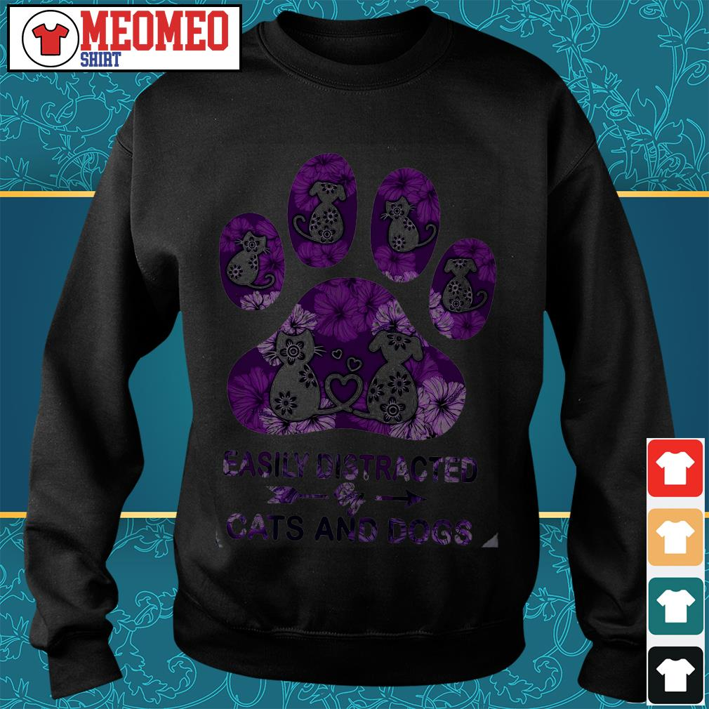 Paw easily distracted by Cats and Dogs Sweater