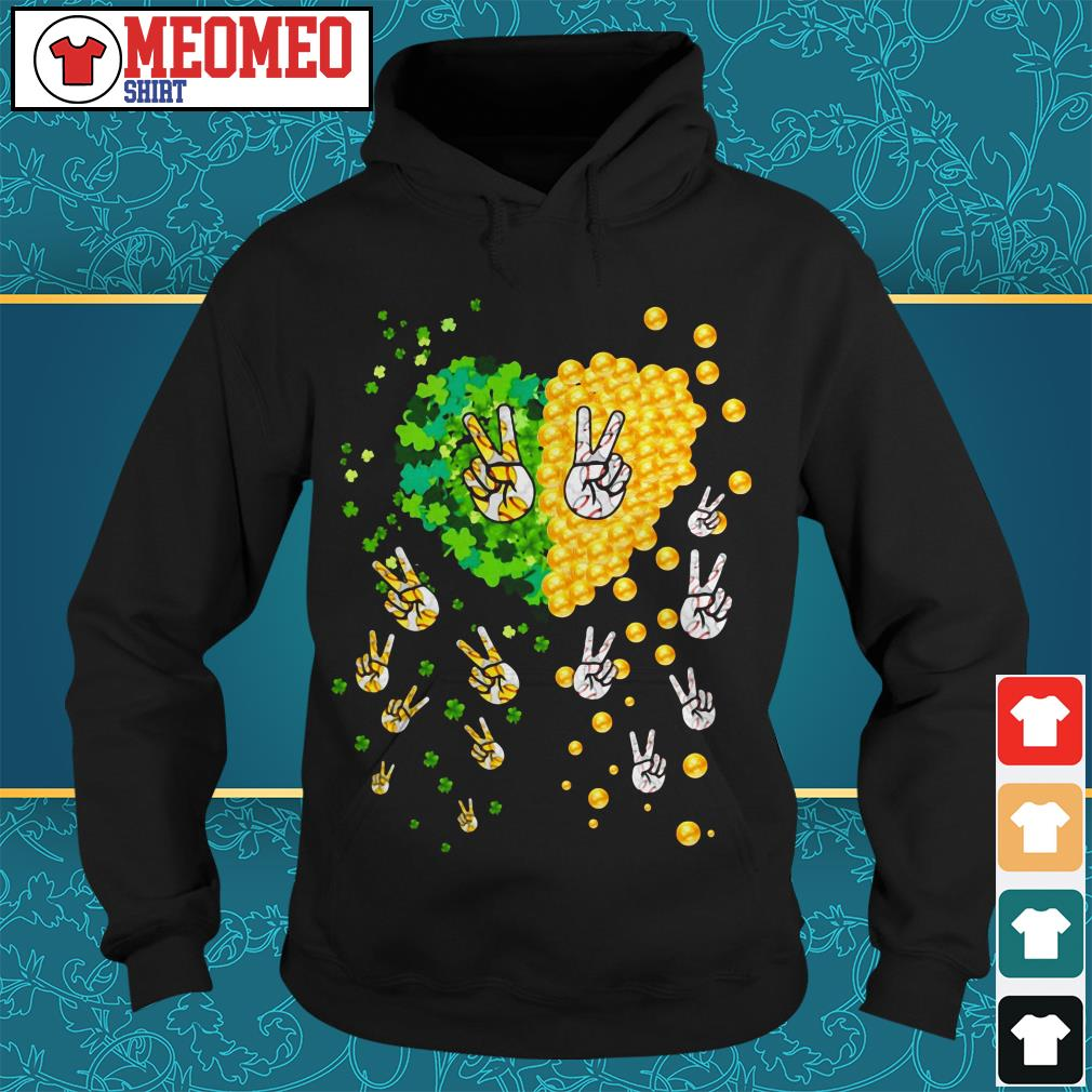 Peace gold lucky my heart Hoodie