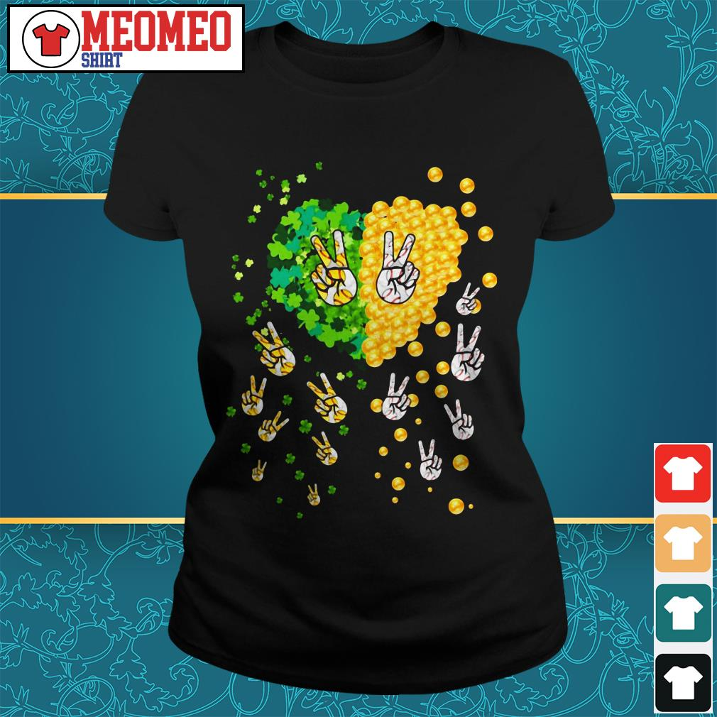 Peace gold lucky my heart Ladies tee