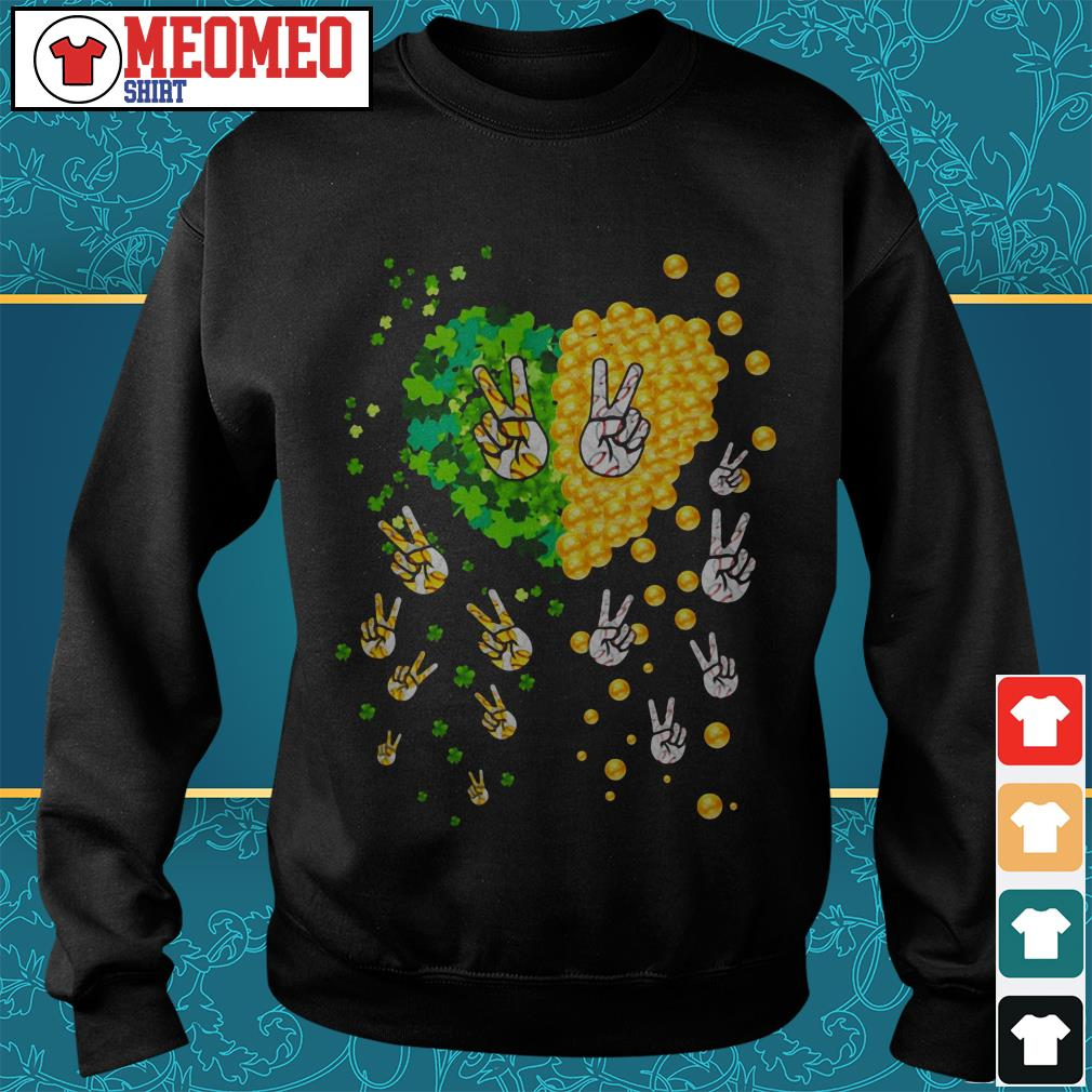 Peace gold lucky my heart Sweater