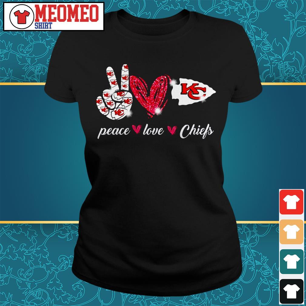 Peace love Chiefs Ladies tee