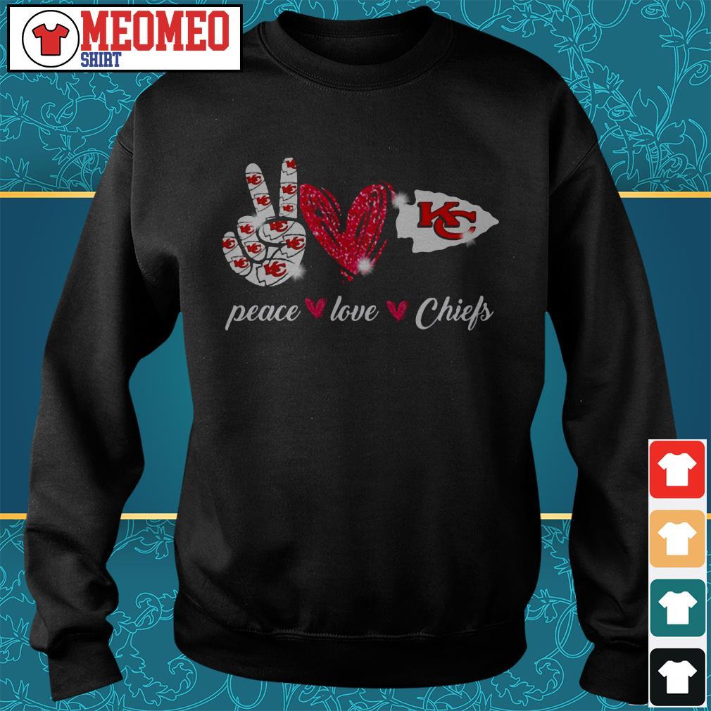 Peace love Chiefs Sweater